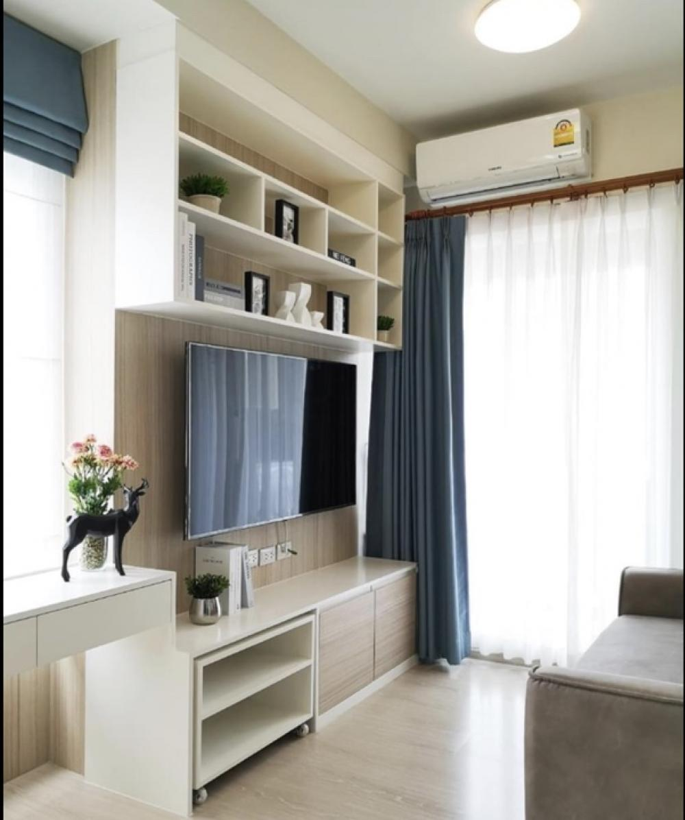 For RentCondoRatchadapisek, Huaikwang, Suttisan : Condo for rent, chapter one Eco Ratchada 1 bed 1 bath, size 30 square meters, Building D, price only 17000 only.