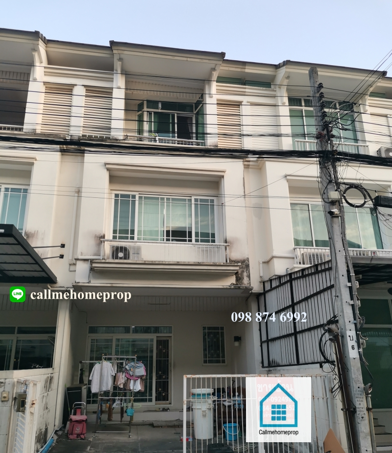 For SaleTownhouseRama 2, Bang Khun Thian : Urgent sale, loss, 3-storey townhome, The Terrace Rama 2, Soi Tha Kham, Big C