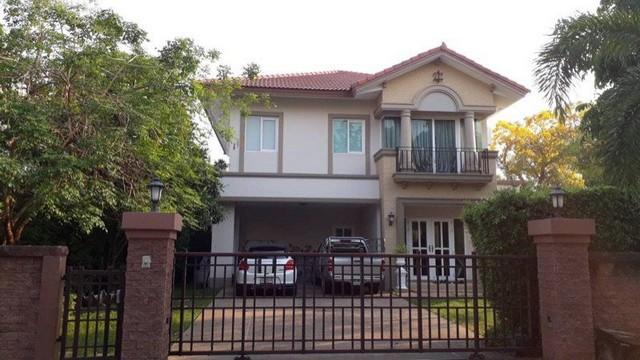 For RentHouseNawamin, Ramindra : HR553 2 storey detached house for rent, Laddarom Village, Watcharaphon, Rattanakosin, ready to move in.
