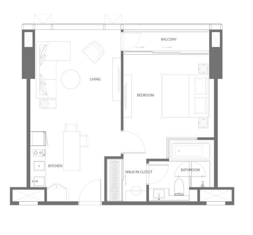 Sale DownCondoSukhumvit, Asoke, Thonglor : Sale down payment The Strand 1 bedroom