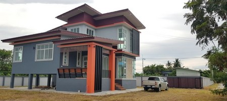 For SaleHouseRayong : Two and a half storey detached house with land Near U-Tapao airport and motorway, hand 1 ready.