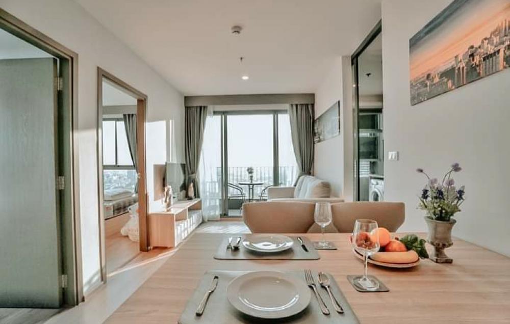 For RentCondoBangna, Lasalle, Bearing : ✨ Condo for rent, IDEO O2 🚅, near BTS Bangna, 2 bedrooms, 1 bathroom, size 46.66 sq.m.