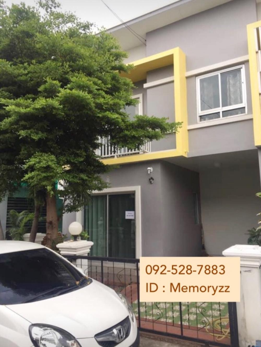 For RentTownhouseLadkrabang, Suwannaphum Airport : Townhome for rent behind the rim Eternal Ville 10, near Hua Chiew University, 3 bedrooms, 2 bathrooms, appliances, ready, 12,000 / month