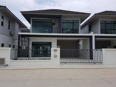 For RentTownhouseRamkhamhaeng,Min Buri, Romklao : For Rent - Twin house style, Aura Luxe Village, Soi Ramkhamhaeng 94