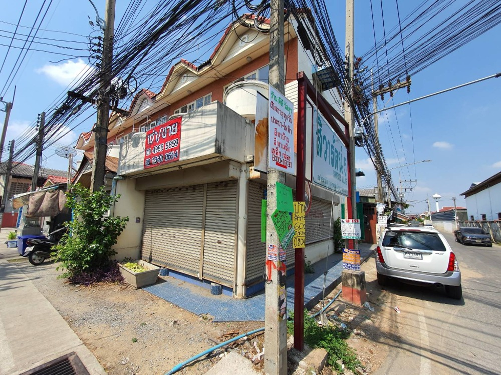 For SaleShophousePhutthamonthon, Salaya : 3-storey commercial building, corner room, good trade, in front of Sivarat village 5