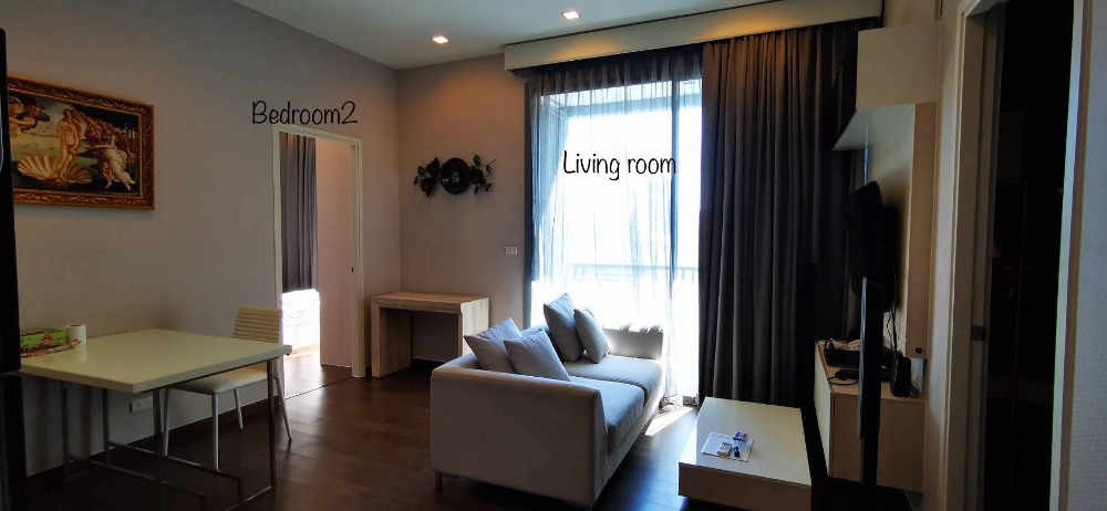 For RentCondoRama9, RCA, Petchaburi : For rent (Q Asoke) 49 sq m, 2 bedrooms, 1 bathroom, 28th floor, fully furnished, good price, arranged 30,000 baht, interested, please contact Khun Bua 099-4956985