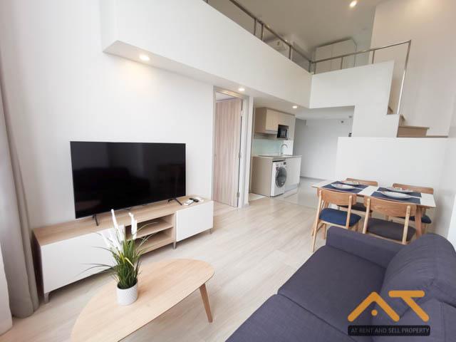 For RentCondoSathorn, Narathiwat : For rent: KnightsBridge Prime Sathorn 2 bedrooms, 2 bathrooms, size 58 sq.m., beautiful room, high floor.