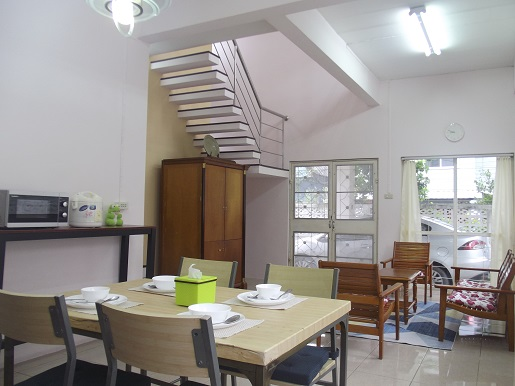 For RentHouseSamrong, Samut Prakan : House for rent, Thepharak km. 3, 2 bedrooms, fully furnished.
