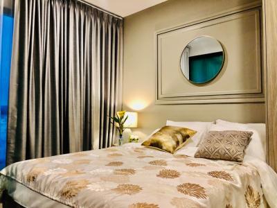 เช่าคอนโดบางนา แบริ่ง : ( วิวต้นไม้ โปร่ง ห้องสวยมาก) ให้เช่า Notting Hill Sukhumvit 105 BTS แบริ่ง 400m ชั้น 8 ห้องมุม *มีเครื่องซักผ้า
