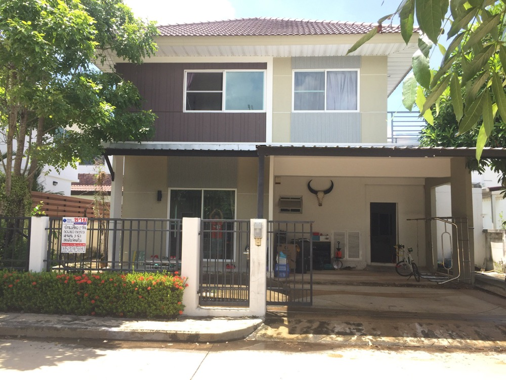 For SaleHouseLadkrabang, Suwannaphum Airport : 2 storey detached house for sale, Perfect Place Sukhumvit 77, Suvarnabhumi Phase 6, near the Paseo