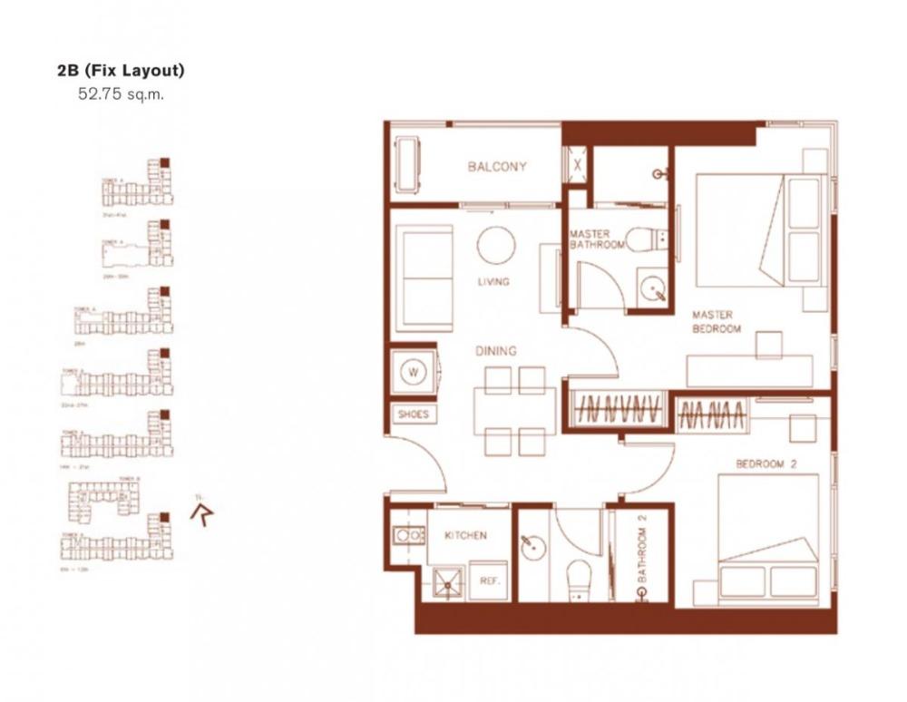 Sale DownCondoRatchadapisek, Huaikwang, Suttisan : 0021-K🎸 SELL 2 bedrooms for sale🚅near MRT Huai Khwang🏦XT Huaikhwang🗝Area: 52.75sq.m.💲Sale: 9,022,000.-baht📞065-9423251✅LineID:newnormalrealtybkk