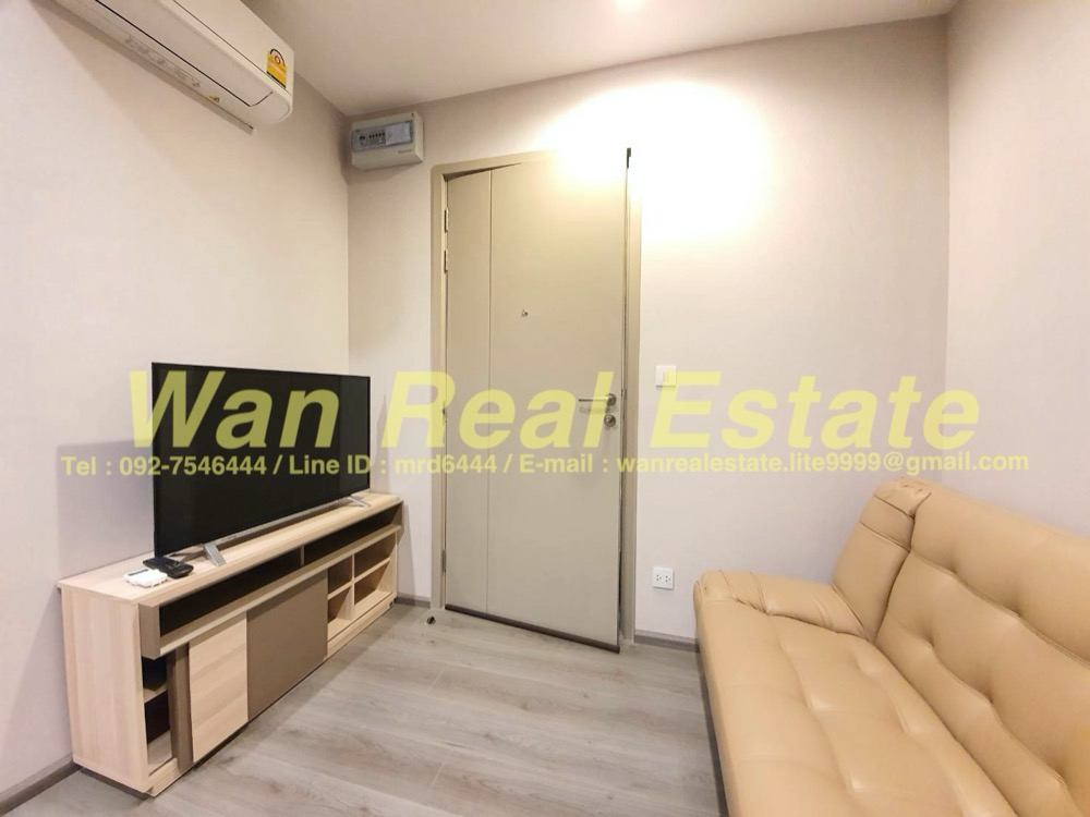 For RentCondoRattanathibet, Sanambinna : For rent, politan rive, 12th floor, size 25 sq m, beautiful view, ready to move in, new room