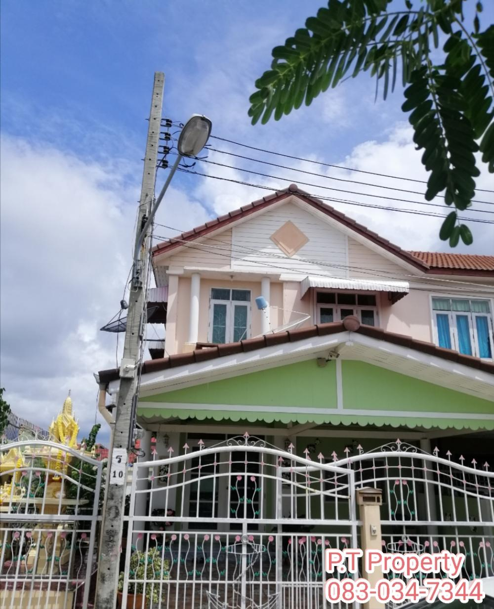 For SaleTownhouseRathburana, Suksawat : 2 storey townhouse for sale * cheap * beautiful corner with garden, Ladda University 2, Phra Samut Chedi, free 3 air conditioners, plus built-in kitchen