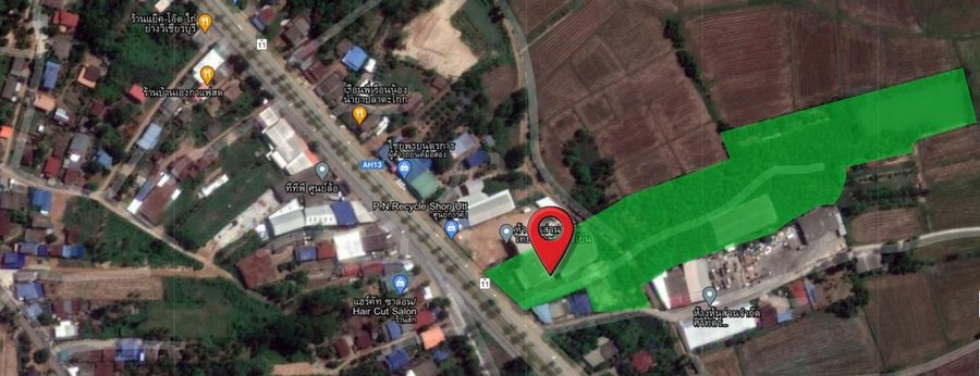 For SaleLandUttaradit : Land for sale 15-1-1 rai, Pa Sao Subdistrict, Mueang Uttaradit District, next to the main road, suitable for a village or warehouse