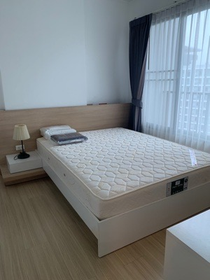 For RentCondoBangna, Lasalle, Bearing : Condo for rent Parkland Srinakarin 9,500 baht, large room, 40 sq m., 15th floor, complete electrical appliances, near Seacon