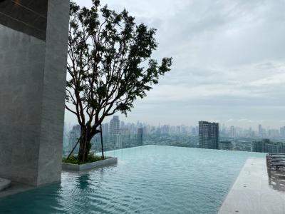 For RentCondoOnnut, Udomsuk : Condo for rent, Knight Bridge Prime On Nut, 30th floor, beautiful view, near BTS On Nut