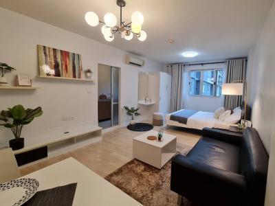 For SaleCondoPattanakan, Srinakarin : Urgent sale, D Condo On Nut Suvarnabhumi, completely renovated, corner room, very beautiful, free furniture and appliances