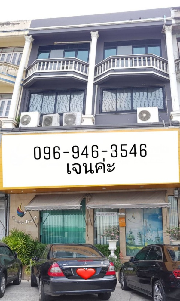 For SaleShophouseLadkrabang, Suwannaphum Airport : JSB141020 Commercial building for sale, 2 booths 3 and a half floors + rooftop, fully furnished, in front of Prawet District Office