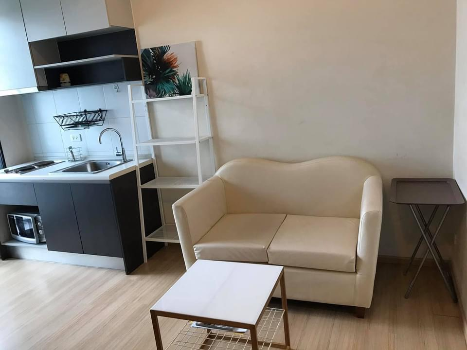For RentCondoChengwatana, Muangthong : Condo for rent, The Base Chaengwattana, next to Chaengwattana Road, very good location, there is a washing machine in the room.