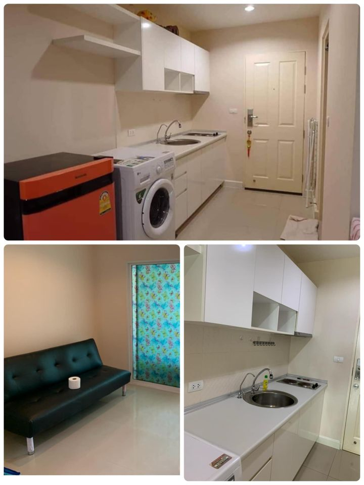For RentCondoThaphra, Wutthakat : Deposit 1 insurance 1 pay only 13,000 baht Can stay here 🌟 Condo for rent, The Lake, Kanlapapruek Road, has a washing machine.