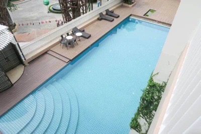 For RentCondoLadprao101, The Mall Bang Kapi : Condo for rent, Happy Condo Ladprao 101, pet friendly, 2 bedrooms, new furniture, fully furnished, pool view, near BTS On Nut 22,000 ฿