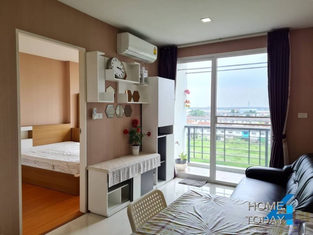 For RentCondoLadkrabang, Suwannaphum Airport : Urgent rent, Air Link Residence Condo, new room, very beautiful, fully furnished