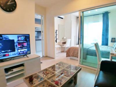 For RentCondoBang Sue, Wong Sawang : Contact Line @wmcondo for rent. Aspire Ratchada-Wong Sawang next to MRT Wong Sawang 50 meters / 23rd floor / with furniture, electrical appliances / 7,500.-
