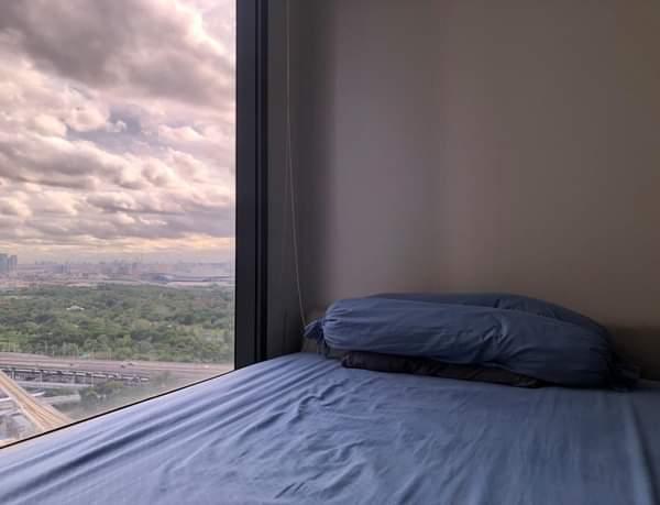 เช่าคอนโดลาดพร้าว เซ็นทรัลลาดพร้าว : For Rent : M Ladprao 38sq.m. (1bedroom) วิวสวนจตุจักร ราคาเช่าเพียง 20,000 บาทต่อเดือน