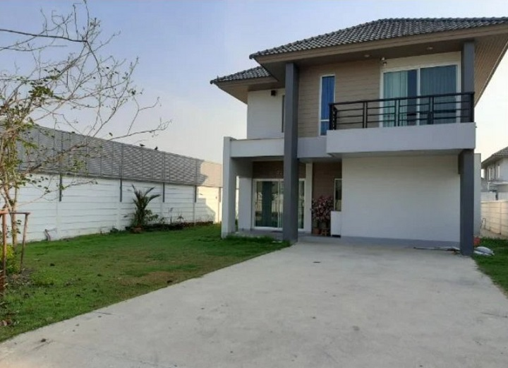 For SaleHouseLadkrabang, Suwannaphum Airport : House for sale Areeya Como Lat Krabang Suvarnabhumi 2-storey detached house