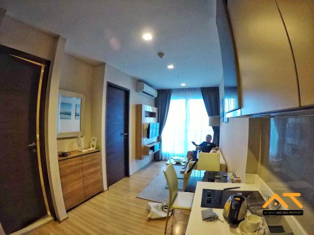 For RentCondoSathorn, Narathiwat : For rent: Rhythm Sathorn 1 bedroom, size 35 sq.m., near BTS Saphan Taksin