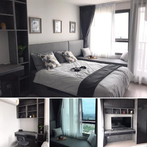 For RentCondoLadprao, Central Ladprao : AE0369 Rental Life Ladprao Studio room 26 sq m, Building A, 42th floor, 2 rooms, Fully Builtin furniture