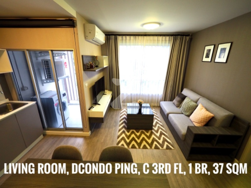 For RentCondoChiang Mai, Chiang Rai : For Rent D condo Ping Building C