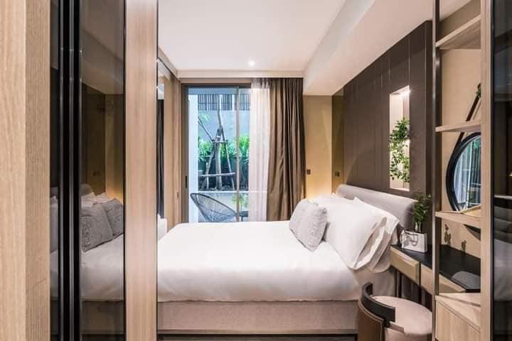For RentCondoSukhumvit, Asoke, Thonglor : For rent, Fynn Sukhumvit 31, fully furnished room with private area + bathtub