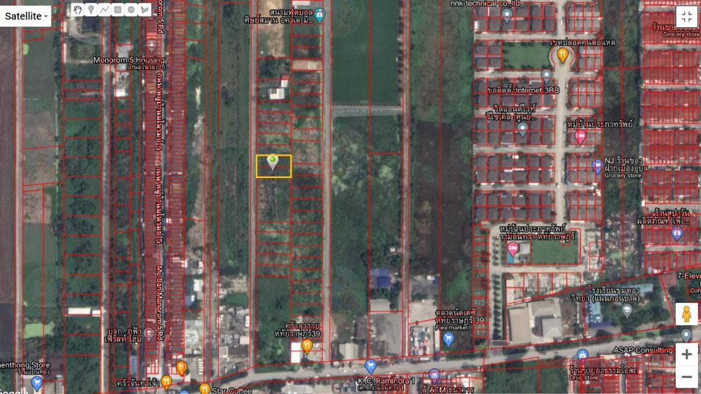 For SaleLandNawamin, Ramindra : Sale of land for sale 200 sq m. Wahathairat 39 beautiful plot, suitable for building a house, farming, vegetables, football field