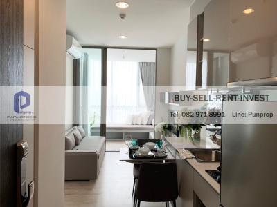 For RentCondoBang Sue, Wong Sawang, Tao Pun : Condo for rent, next to MRT Tao Poon @ Niche Pride, Tao Poon Interchange 34.5 sq m. High floor, 1 bedroom 20,000 baht / month.