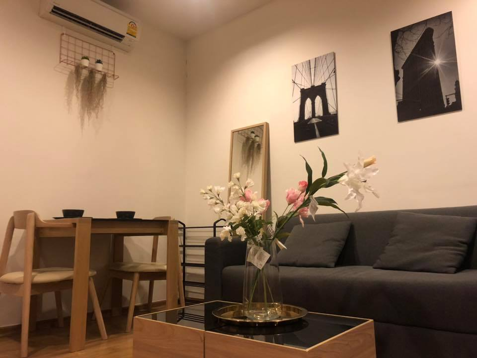 For SaleCondoOnnut, Udomsuk : Hasu Haus Sukhumvit 77, near BTS On Nut, waterfront condo, good atmosphere, suitable for relaxation, good layout, high floor separate kitchen.