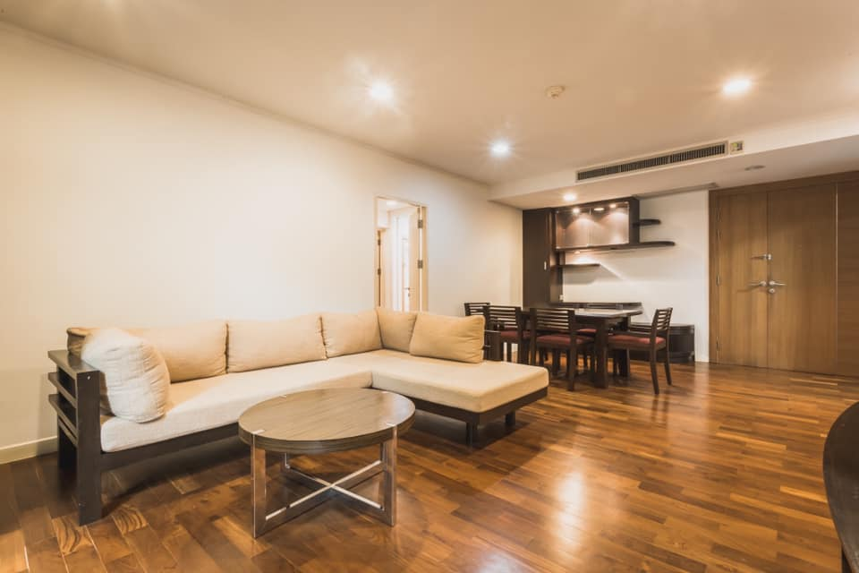 For RentCondoWitthayu,Ploenchit  ,Langsuan : Siri Ruedee by Sansiri Condo for rent: 2 bedrooms 2 Bathrooms for 88 sqm. on 3rd Floor.With fully furnished and electrical appliances.Just 250 m. to BTS Ploenchit.Rental only for 42,000 / m.