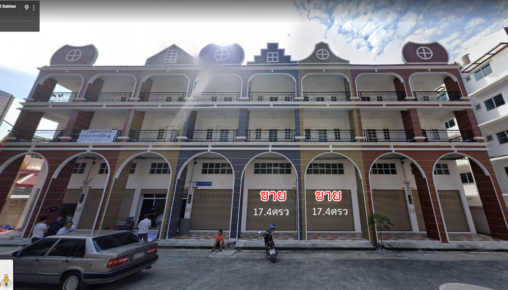For SaleShophouseWongwianyai, Charoennakor : Commercial building for sale in Tulip Square, 2 booths adjacent to 3.5 floors, Om Noi