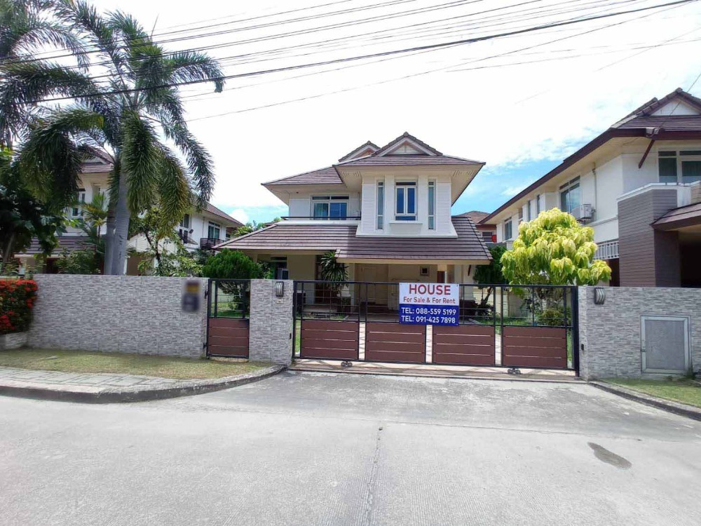 For SaleHouseChonburi, Pattaya, Bangsa : 2 storey detached house for sale, Soi 4, The Boulevard, Sriracha