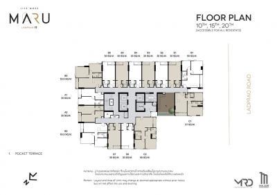 For SaleCondoLadprao, Central Ladprao : 🐱 MARU Ladprao 15 🐱 34 sq.m.