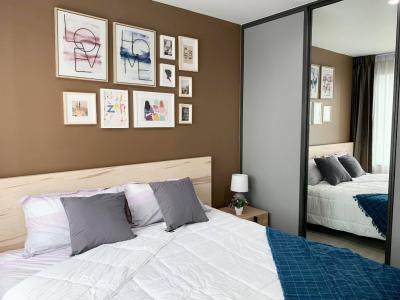 เช่าคอนโดลาดพร้าว เซ็นทรัลลาดพร้าว : ให้เช่า Life Ladprao แต่งสวยพร้อมอยู่ ติด BTS ลาดพร้าว (ตรงข้าม Central) 1 ห้องนอน(เตียงใหญ่), 35ตรม