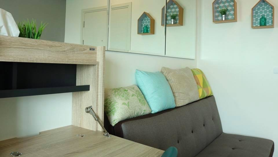 For RentCondoThaphra, Wutthakat : Aspire Sathorn Thapra, next to BTS Talat Phlu 8500 baht, new room, fully furnished.