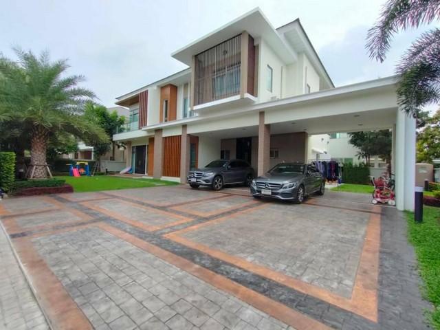 For RentHouseRamkhamhaeng,Min Buri, Romklao : 2 storey detached house for rent in new Krungthep Kreetha area Perfect masterpiece Rama 9-Krungthep Kreetha village