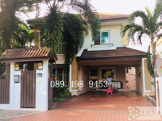 For SaleHouseRattanathibet, Sanambinna : Urgent sale, 2-storey detached house, Sammakorn Nakhon In Village - Rama 5 (Baan Sammakorn Nakorn In)