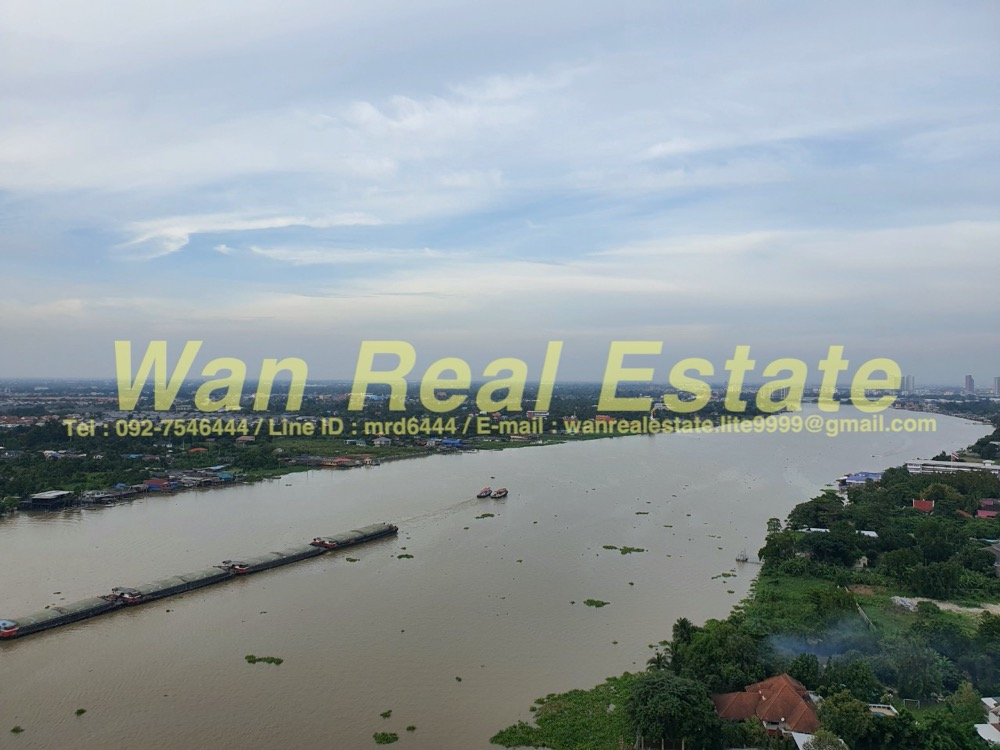 For RentCondoRattanathibet, Sanambinna : Condo for rent, politan aqua, 24th floor, size 31 sq.m., room in front of the river, beautiful view, new room, recently transferred.