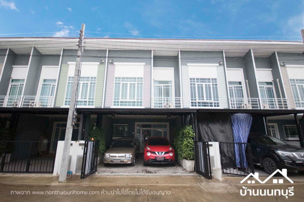 For SaleTownhouseBangbuathong, Sainoi : 2-storey townhome, Q District Westgate, Bang Bua Thong, fully furnished, and after
