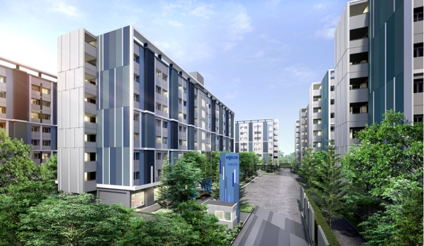 For SaleCondoNawamin, Ramindra : Buy it...#with a salary of 13,000 baht, you can own a condo# ready to receive special offers of the Zone Bangkok Condo project, the price is less than a million......it's real !!!!!!!!! (Fully Furnished ) Price 899,000.- comfortable, bank installment