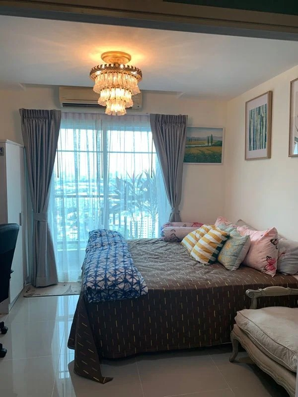 For RentCondoPattanakan, Srinakarin : ✅ For rent, Assagarn Srinakarin, near Airport Link, size 30 sq m, complete with furniture and electric appliances ✅