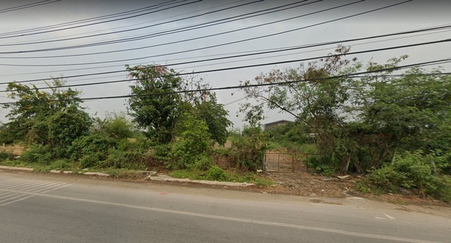 For SaleLandBangbuathong, Sainoi : Land for sale on Bang Kruai-Sai Noi Road, area 5 rai 66 sq m, near Global House Sai Noi 69,000 per square wa.