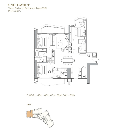 ขายคอนโดวงเวียนใหญ่ เจริญนคร : ห้องมุม ชั้นสูง 40+ ทิศตะวันออก *Magnolias Waterfront Residences ICONSIAM